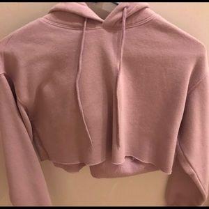 Cropped Purple Sweatshirt